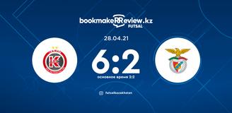 Highlights: Kairat – Benfica 28.04.2021