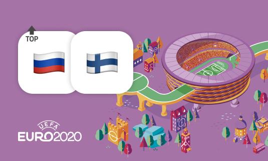 Игра Финляндия – Россия вошла в ТОП-3 самых популярных матчей Евро-2020