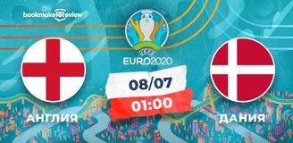 Прогноз на матч Чемпионата Европы Англия – Дания: без сенсаций в полуфинале не обойдется