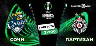 Прогноз на матч Лиги конференций УЕФА «Сочи» – «Партизан»: без зрителей, но с голами