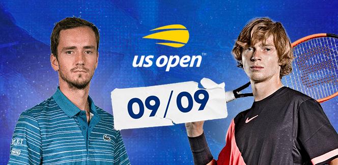 Прогноз на матч US Open Андрей Рублёв – Даниил Медведев: ставлю на верховой тотал