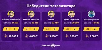 20 000 тенге: награждаем победителей бесплатного тотализатора!