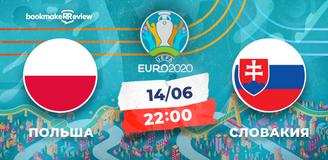 Прогноз на матч Евро-2020 Польша - Словакия: 3 очка для польской сборной