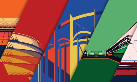 Британский художник изобразил стадионы Евро-2021 в стиле минимал-арт